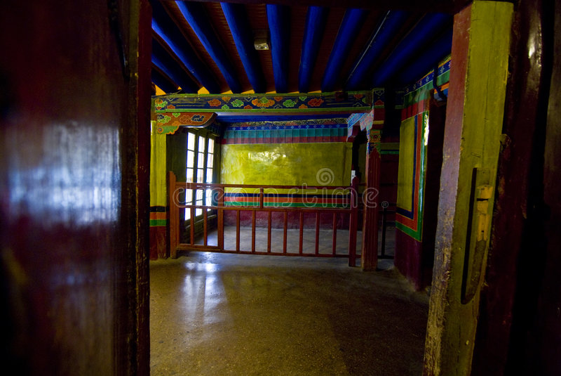 εσωτερικό potala παλατιών στοκ φωτογραφία με δικαίωμα ελεύθερης χρήσης