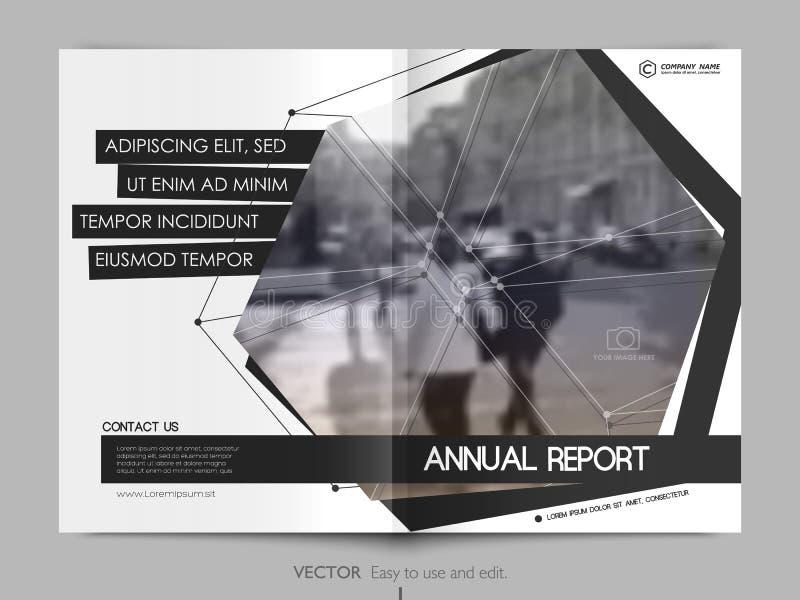 Ετήσια έκθεση σχεδίου κάλυψης, ιπτάμενο, φυλλάδιο ελεύθερη απεικόνιση δικαιώματος