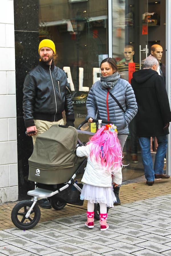 Ετήσιος χειμώνας καρναβάλι σε Gorinchem. στοκ φωτογραφία με δικαίωμα ελεύθερης χρήσης
