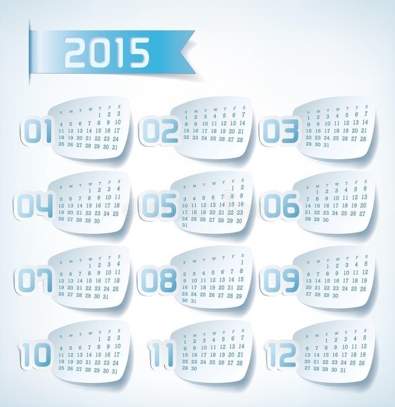 2015 ετήσιο ημερολόγιο στοκ φωτογραφία με δικαίωμα ελεύθερης χρήσης