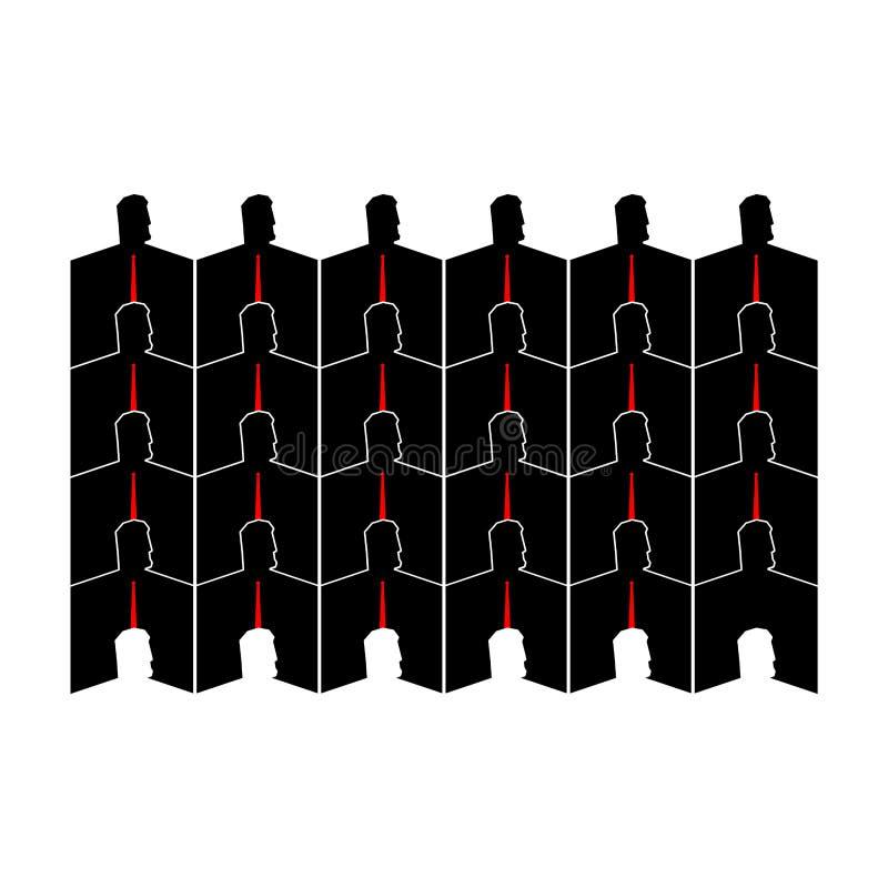 Εταιρία επιχειρηματιών άνθρωποι Διανυσματική απεικόνιση ζωής γραφείων απεικόνιση αποθεμάτων