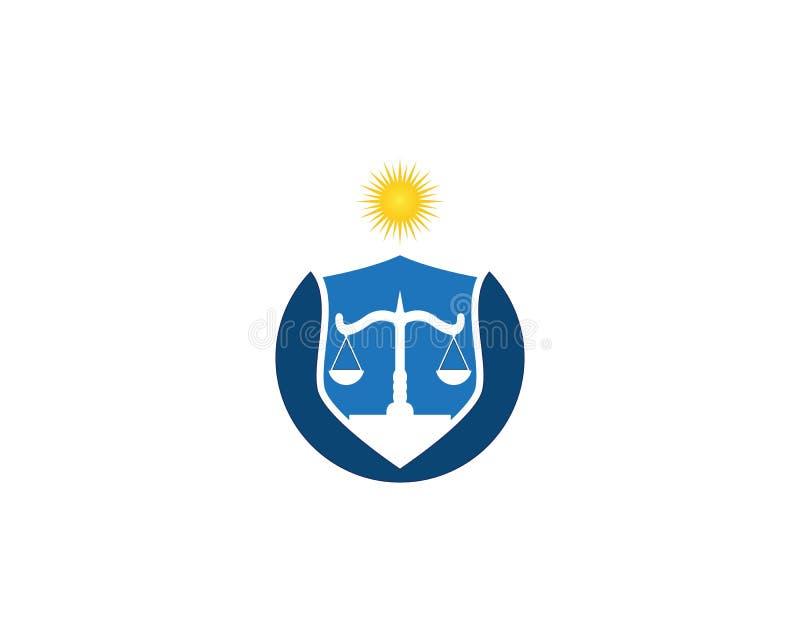 Εταιρία νόμου και διανυσματικό πρότυπο λογότυπων δικαιοσύνης διανυσματική απεικόνιση
