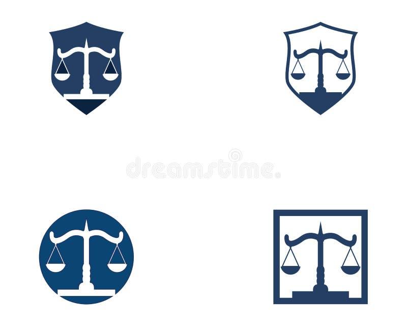 Εταιρία νόμου και διανυσματικό πρότυπο λογότυπων δικαιοσύνης ελεύθερη απεικόνιση δικαιώματος