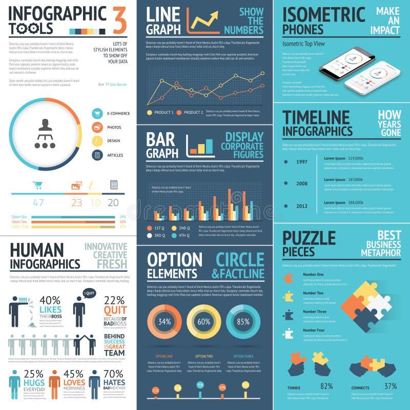 Εταιρικά διανυσματικά στοιχεία infographics στα επίπεδα επιχειρησιακά χρώματα απεικόνιση αποθεμάτων