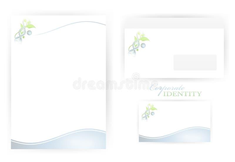 εταιρικά πρότυπα ταυτότητ&alph απεικόνιση αποθεμάτων