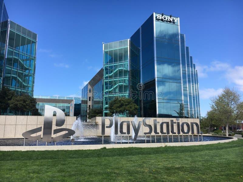 Εταιρική έδρα της Sony PlayStation στοκ εικόνα