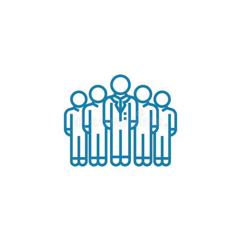 Εταιρική έννοια εικονιδίων τμημάτων γραμμική Εταιρικό διανυσματικό σημάδι γραμμών τμημάτων, σύμβολο, απεικόνιση διανυσματική απεικόνιση
