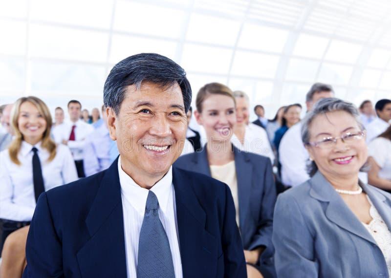 Εταιρική έννοια διασκέψεων σεμιναρίου επιχειρηματιών στοκ εικόνες