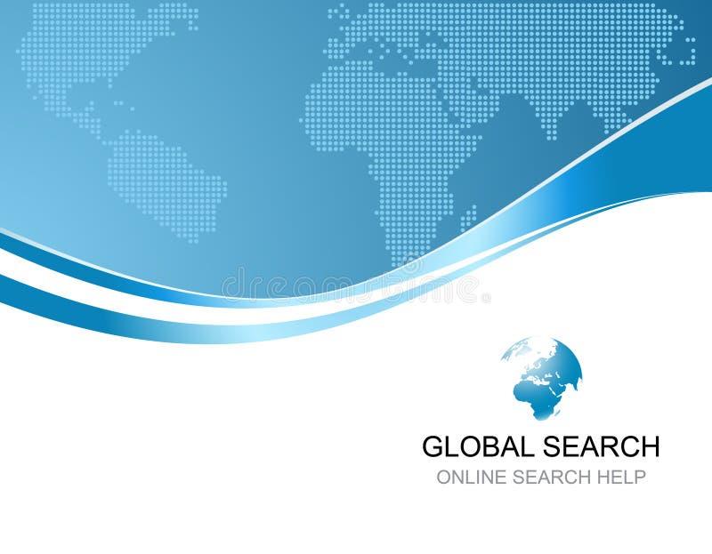 Εταιρική ανασκόπηση με το λογότυπο της σφαιρικής αναζήτησης διανυσματική απεικόνιση