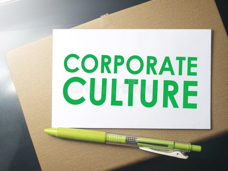 Εταιρικός πολιτισμός, κινητήρια έννοια αποσπασμάτων επιχειρησιακών λέξεων στοκ φωτογραφία