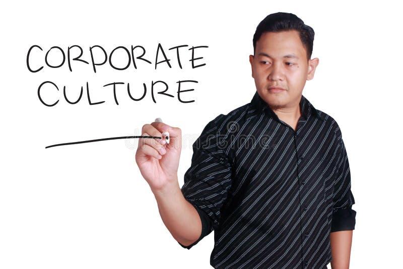 Εταιρικός πολιτισμός, κινητήρια έννοια αποσπασμάτων επιχειρησιακών λέξεων στοκ εικόνα