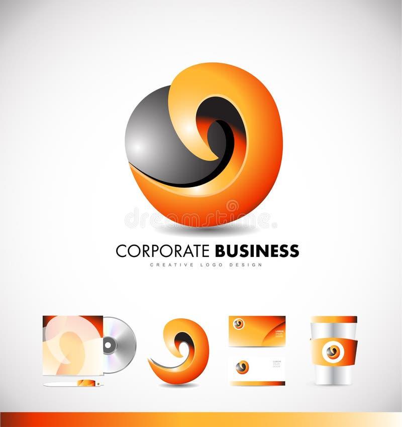 Εταιρικό αφηρημένο σχέδιο εικονιδίων λογότυπων ελεύθερη απεικόνιση δικαιώματος