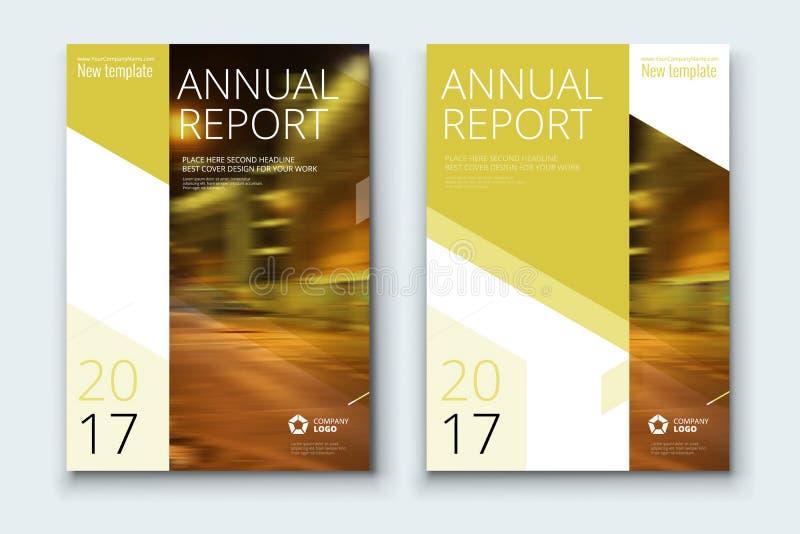 Εταιρικό κάλυψη επιχειρησιακών ετήσια εκθέσεων, φυλλάδιο ή σχέδιο ιπτάμενων Παρουσίαση φυλλάδιων Κατάλογος με αφηρημένο γεωμετρικ ελεύθερη απεικόνιση δικαιώματος