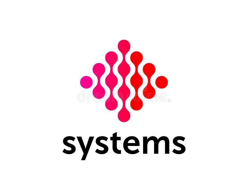 Εταιρικό κόκκινο σχέδιο κύκλων λογότυπων αφηρημένο διανυσματικό διανυσματική απεικόνιση