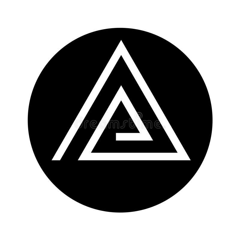 Εταιρικό μονόγραμμα επιχειρησιακών λογότυπων Α απεικόνιση αποθεμάτων