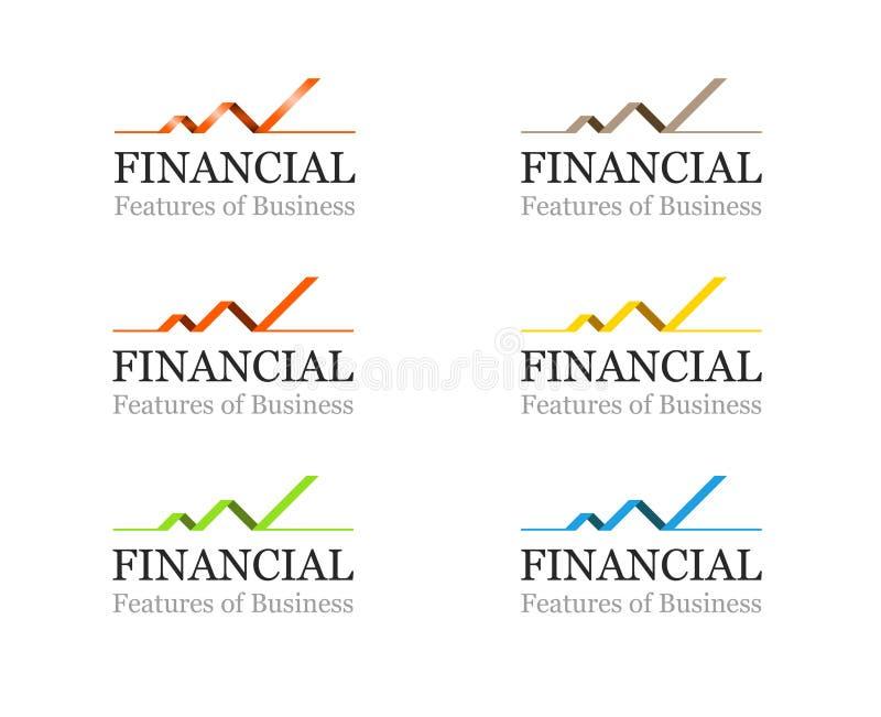 Εταιρικό οικονομικό ή σύνολο προτύπων επιχειρησιακό λογότυπων διανυσματική απεικόνιση