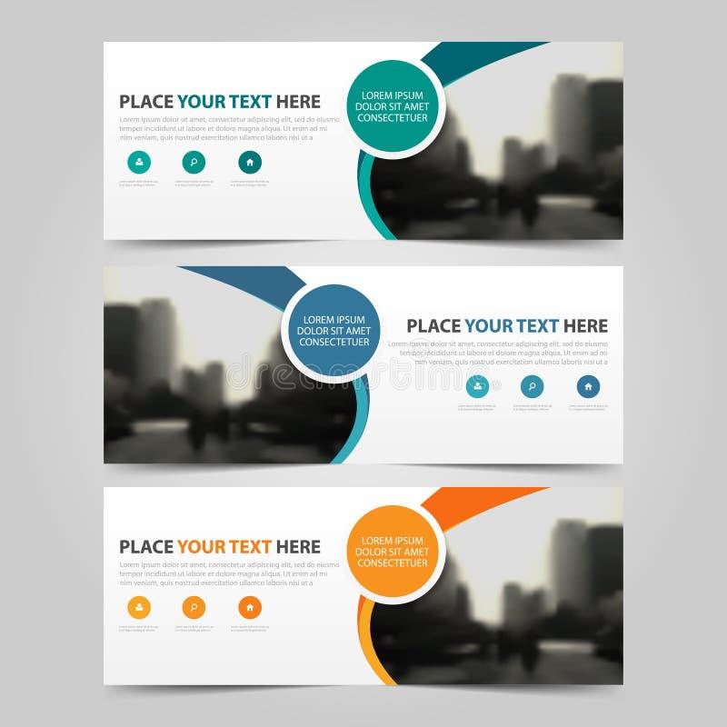 Εταιρικό πρότυπο επιχειρησιακών εμβλημάτων, οριζόντιο διαφήμισης επιχειρησιακών εμβλημάτων σχεδιαγράμματος σύνολο σχεδίου προτύπω ελεύθερη απεικόνιση δικαιώματος