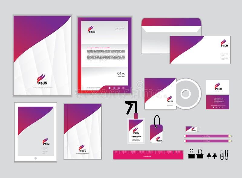 Εταιρικό πρότυπο ταυτότητας για την επιχείρησή σας, σύνολο 2 διανυσματική απεικόνιση