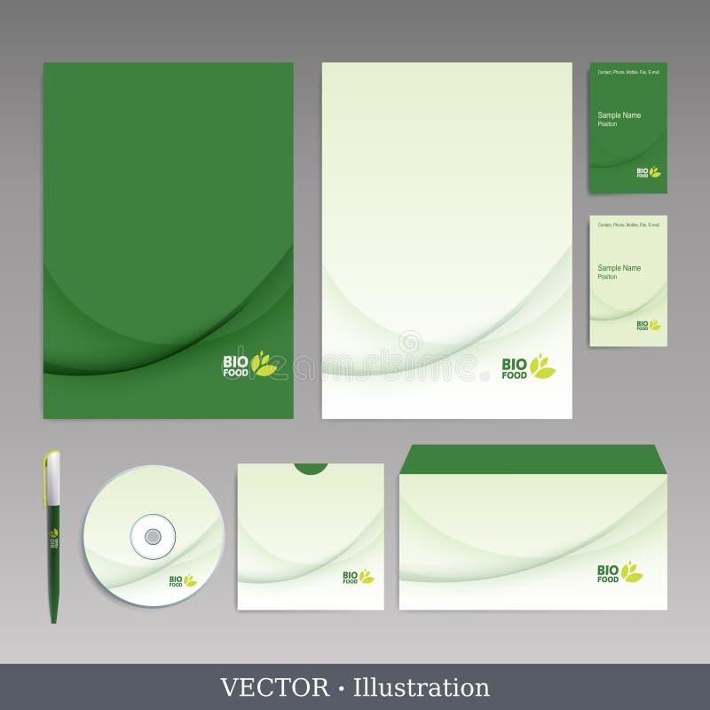 Εταιρικό πρότυπο ταυτότητας. διανυσματική απεικόνιση