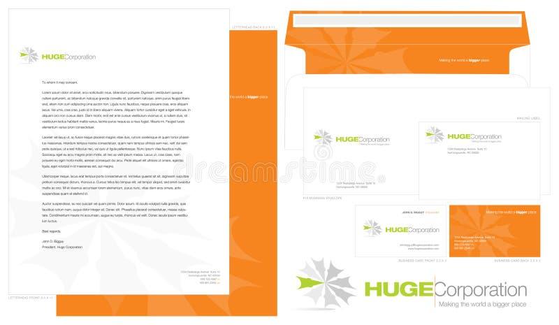εταιρικό πρότυπο ταυτότητας απεικόνιση αποθεμάτων
