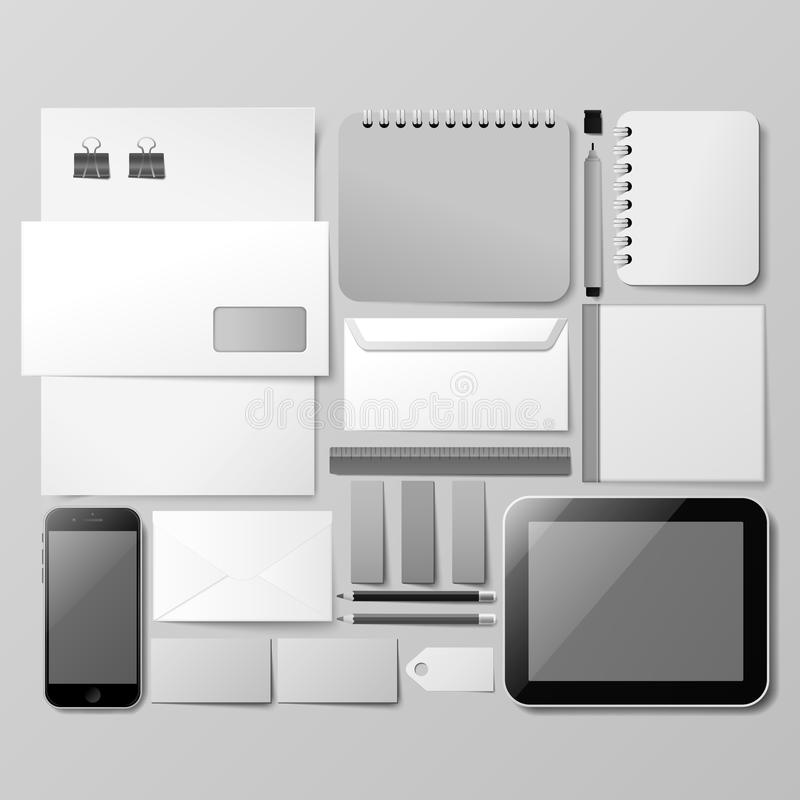 Εταιρικό πρότυπο ταυτότητας διανυσματική απεικόνιση