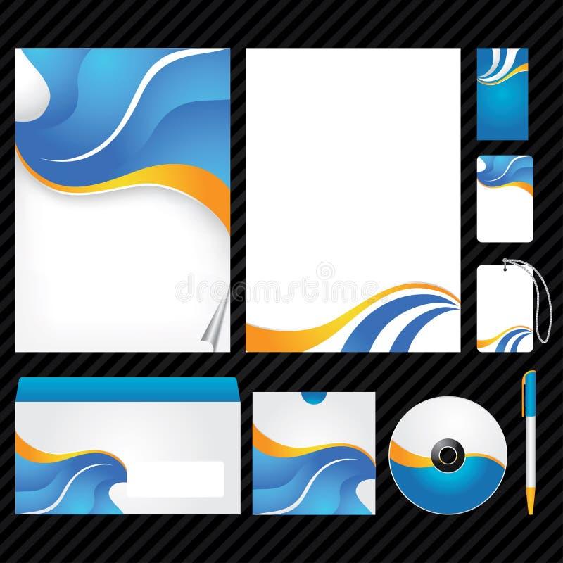 εταιρικό πρότυπο ταυτότητ&al ελεύθερη απεικόνιση δικαιώματος