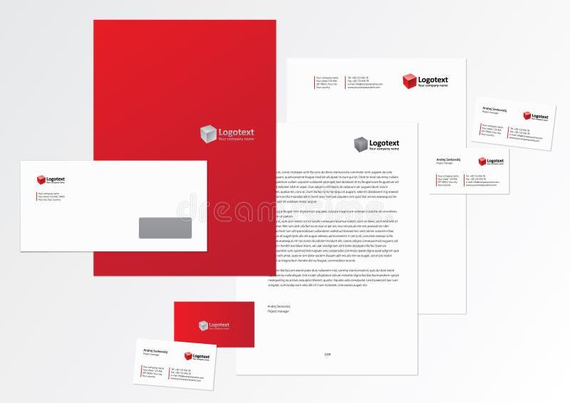 εταιρικό πρότυπο ταυτότητ&al απεικόνιση αποθεμάτων