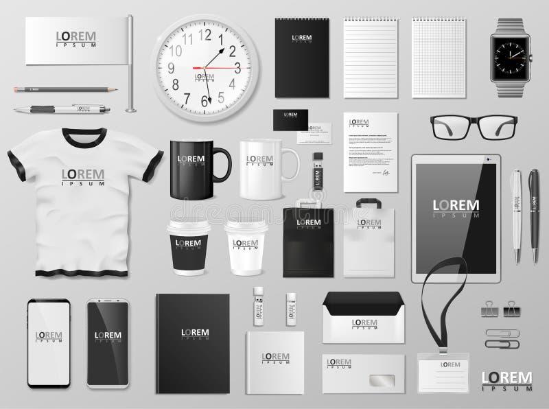 Εταιρικό σχέδιο προτύπων ταυτότητας μαρκαρίσματος Σύγχρονο γραπτό χρώμα προτύπων χαρτικών Χαρτικά επιχειρησιακού ύφους απεικόνιση αποθεμάτων