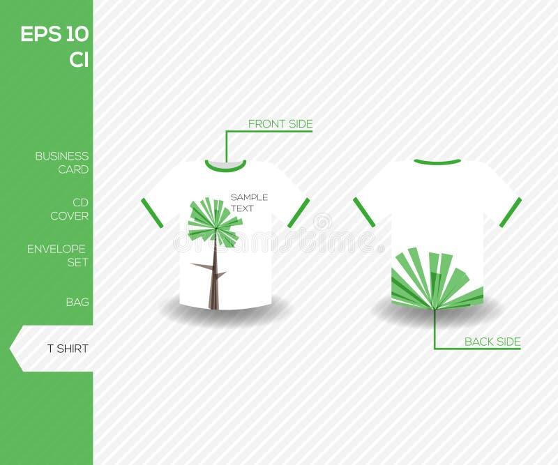 Εταιρικό σχέδιο ταυτότητας για την επιχείρηση - πουκάμισο απεικόνιση αποθεμάτων