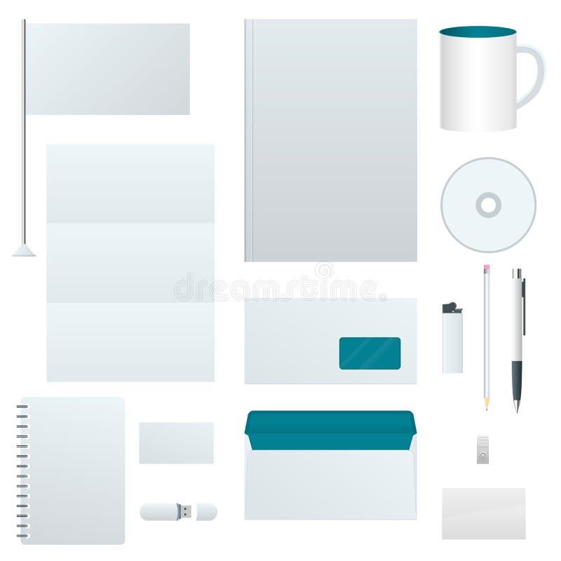 Εταιρικό σύνολο προτύπων ταυτότητας Σχέδιο μαρκαρίσματος κενό πρότυπο Πρότυπο επιχειρησιακών χαρτικών Για τους γραφικούς σχεδιαστ απεικόνιση αποθεμάτων