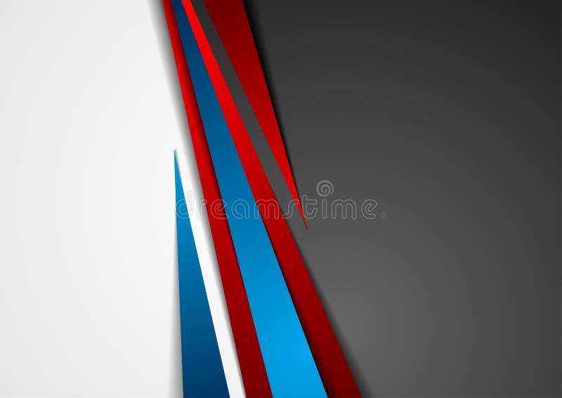 Εταιρικό υπόβαθρο τεχνολογίας αντίθεσης κόκκινο και μπλε διανυσματική απεικόνιση