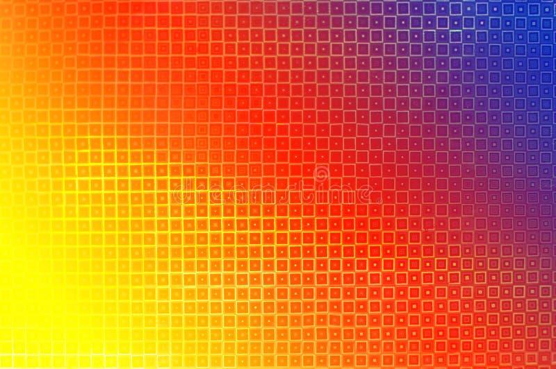 Ετερόκλητο πολύχρωμο υπόβαθρο των polygonal στοιχείων στο ύφος του disco με το χαλάζι στοκ εικόνα με δικαίωμα ελεύθερης χρήσης