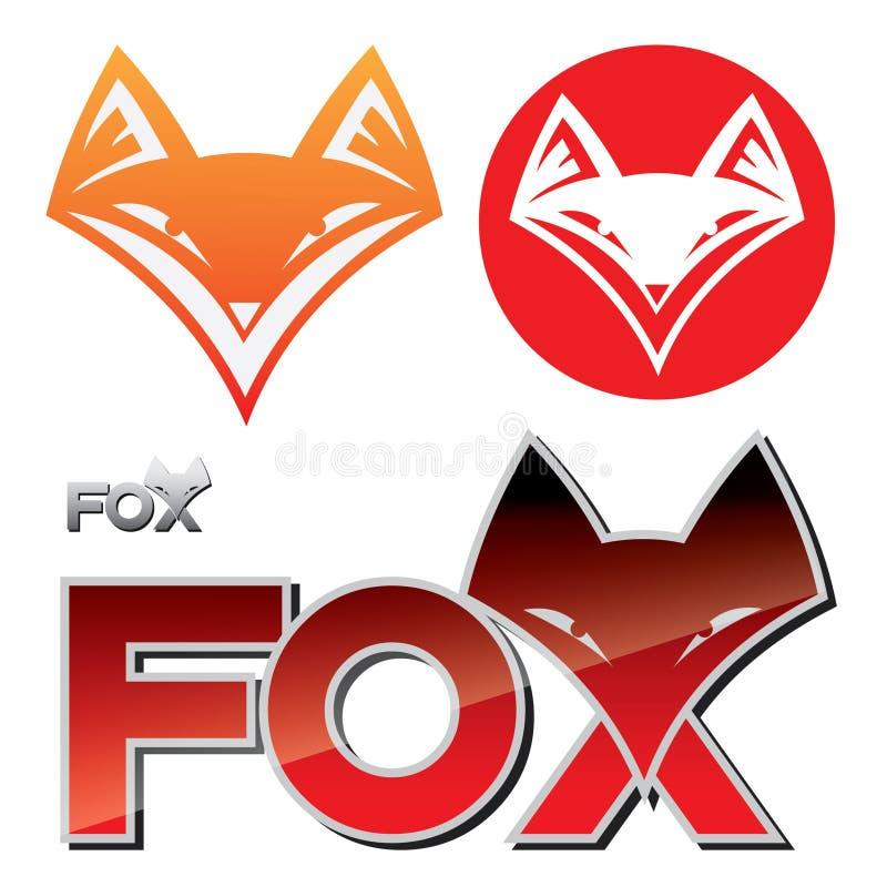 Ετικέτα αλεπούδων διανυσματική απεικόνιση