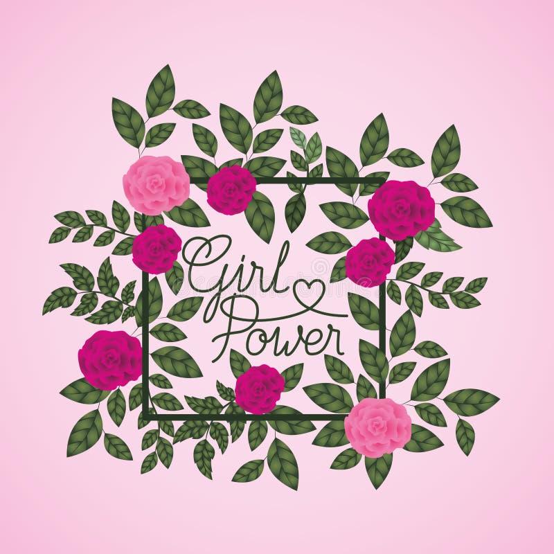 Ετικέτα ημέρας γυναικών με τα τριαντάφυλλα ελεύθερη απεικόνιση δικαιώματος