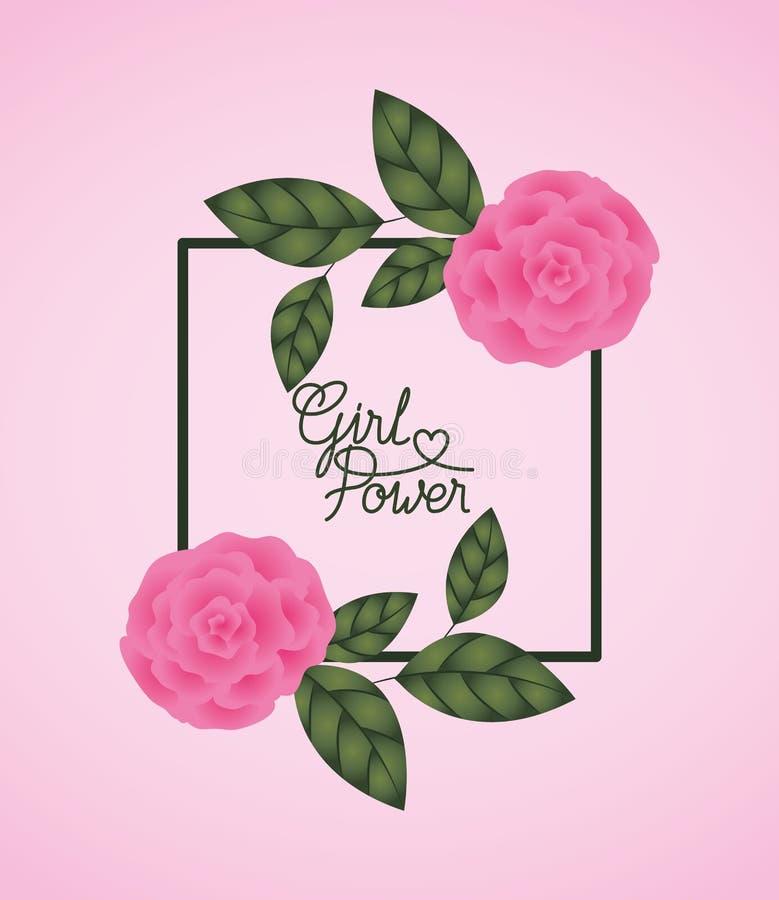 Ετικέτα ημέρας γυναικών με τα τριαντάφυλλα διανυσματική απεικόνιση