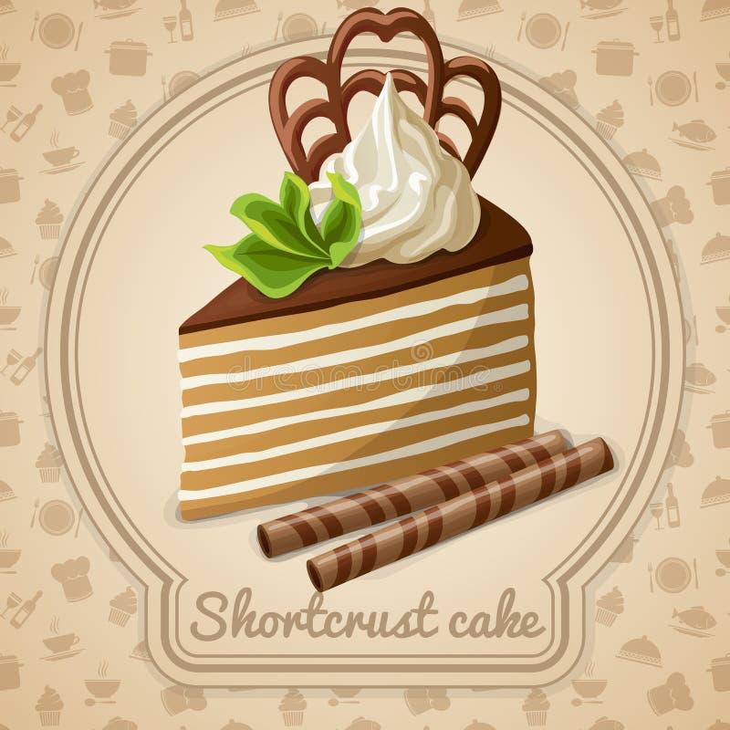 Ετικέτα κέικ Shortcrust διανυσματική απεικόνιση