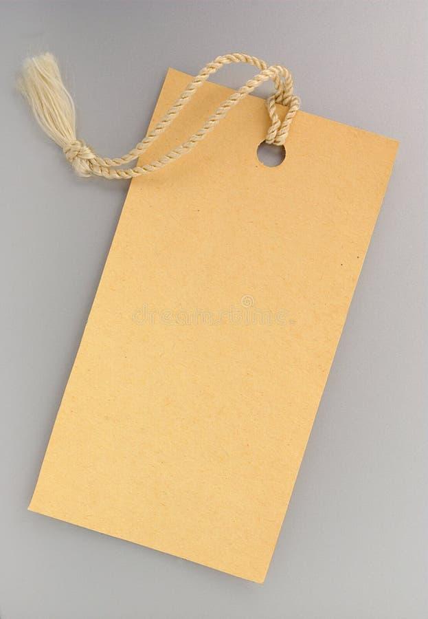 ετικέτα κίτρινη στοκ φωτογραφίες