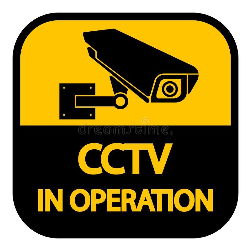Ετικέτα καμερών CCTV Μαύρο τηλεοπτικό σημάδι επιτήρησης στο άσπρο υπόβαθρο απεικόνιση απεικόνιση αποθεμάτων