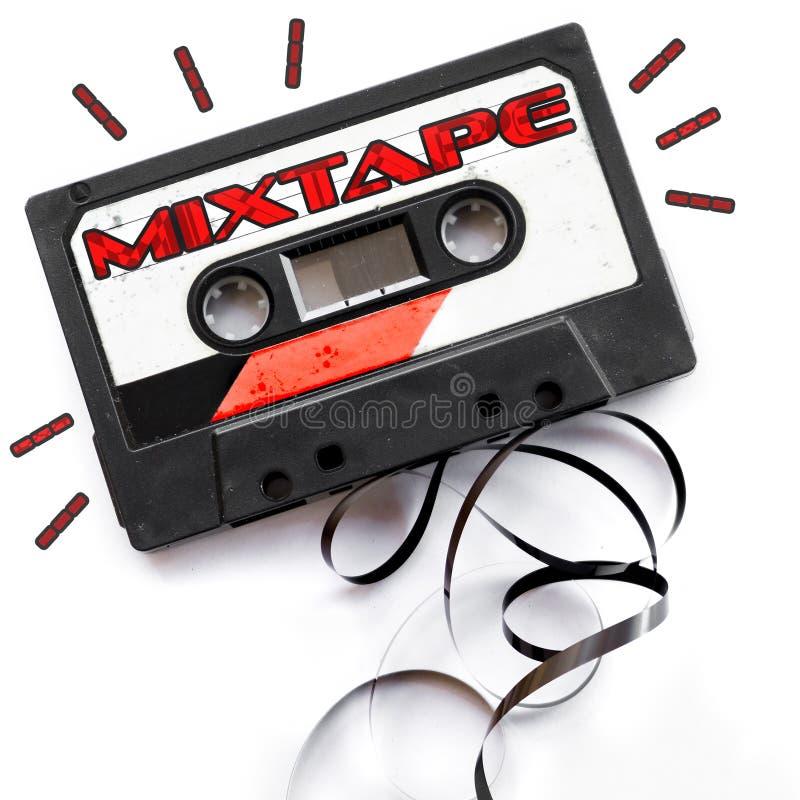 Ετικέτα κασετών ήχου Mixtape στοκ φωτογραφία