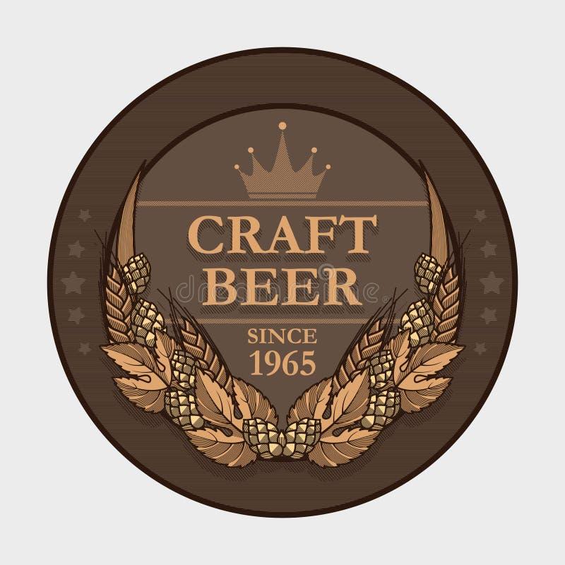 Ετικέτα μπύρας τεχνών ελεύθερη απεικόνιση δικαιώματος