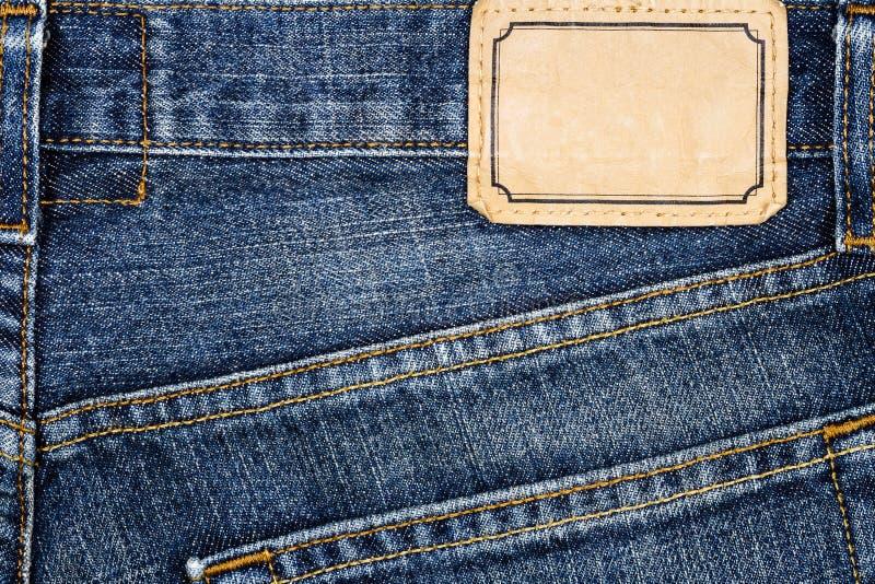 Ετικέτα που ράβεται το τζιν παντελόνι στοκ φωτογραφία με δικαίωμα ελεύθερης χρήσης