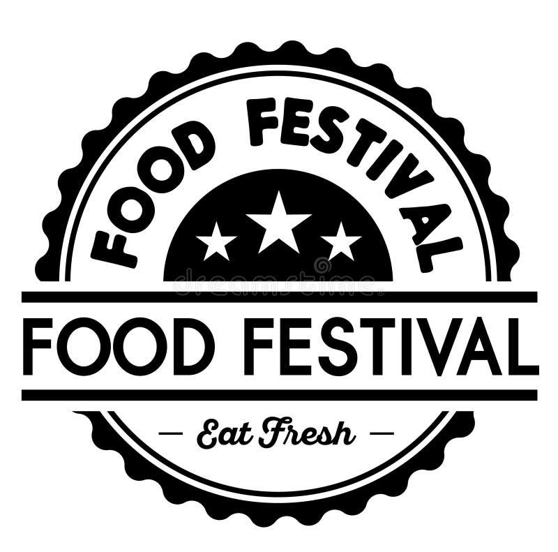 Ετικέτα φεστιβάλ τροφίμων απεικόνιση αποθεμάτων