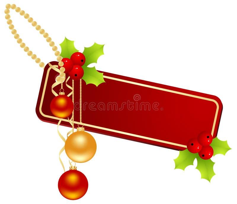 ετικέτα Χριστουγέννων απεικόνιση αποθεμάτων