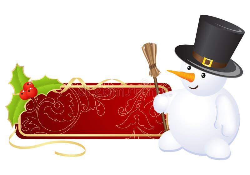 ετικέτα Χριστουγέννων ελεύθερη απεικόνιση δικαιώματος