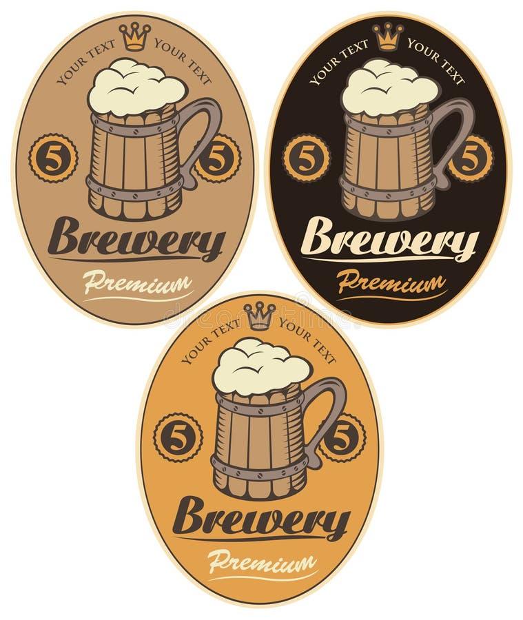 Ετικέτες για την μπύρα διανυσματική απεικόνιση