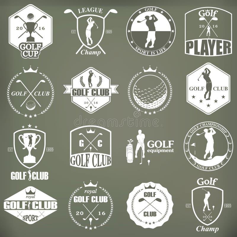 Ετικέτες, διακριτικά και εμβλήματα γκολφ ελεύθερη απεικόνιση δικαιώματος