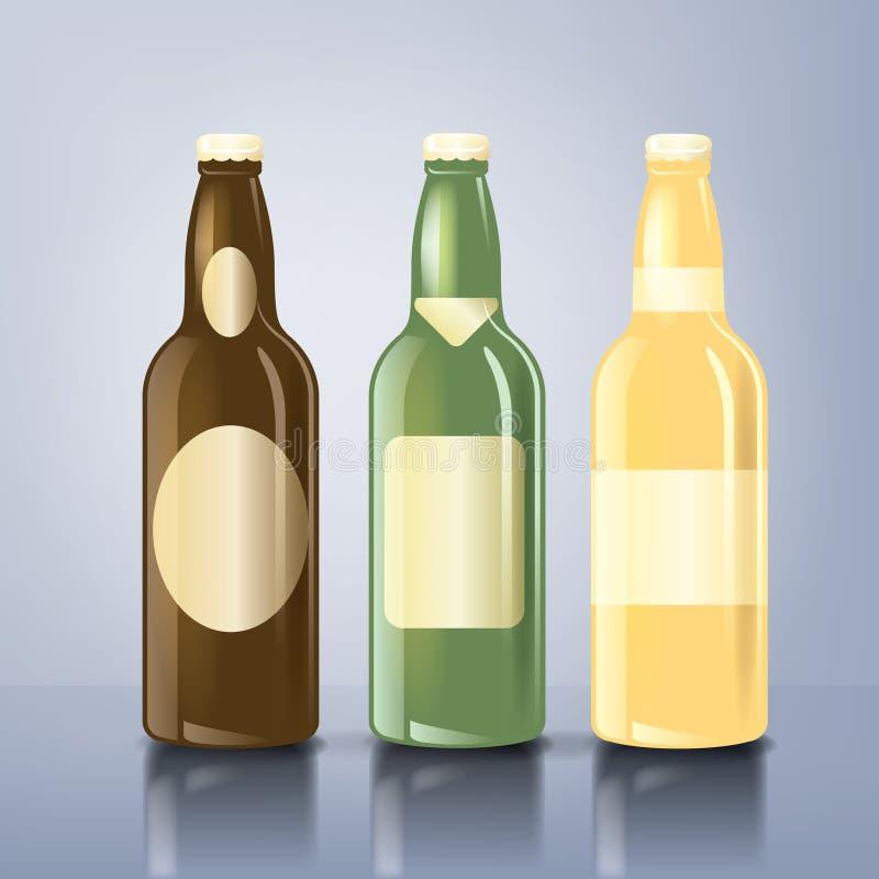ετικέτες μπουκαλιών μπύρας διανυσματική απεικόνιση