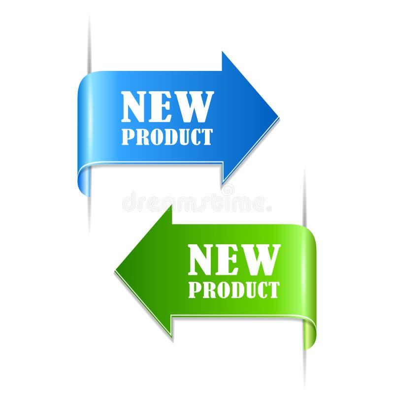 Ετικέτες νέων προϊόντων απεικόνιση αποθεμάτων