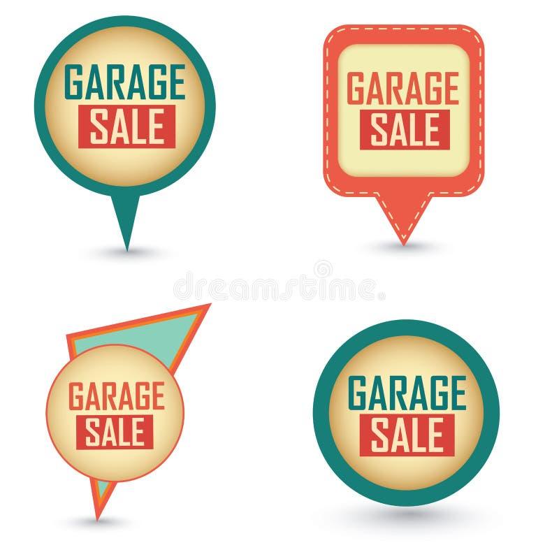 Ετικέτες πώλησης γκαράζ ελεύθερη απεικόνιση δικαιώματος
