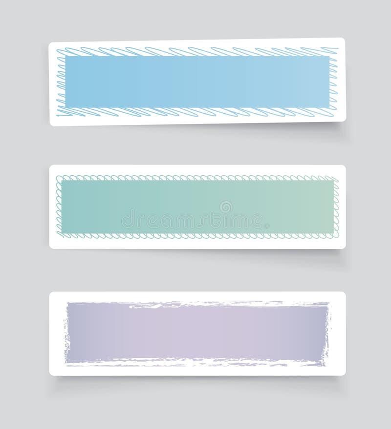 Ετικέτες στα ελαφριά χρώματα διανυσματική απεικόνιση
